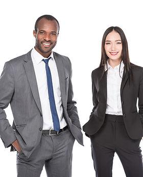 portrait of smiling multiethnic business