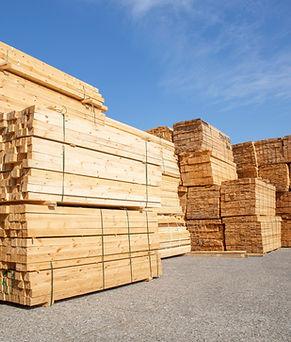 Wooden boards, lumber, industrial wood,