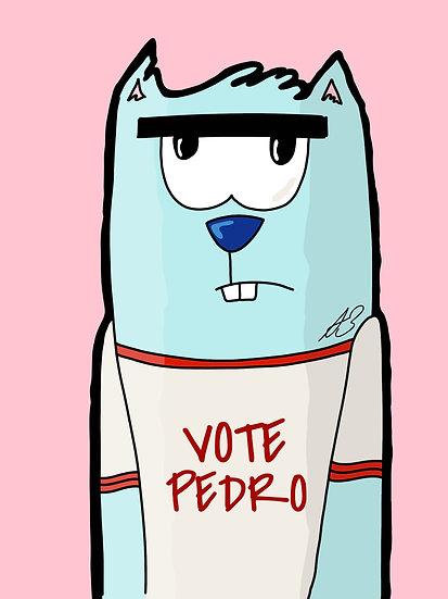 """Pedro's Cat"" Standard Gloss Print"