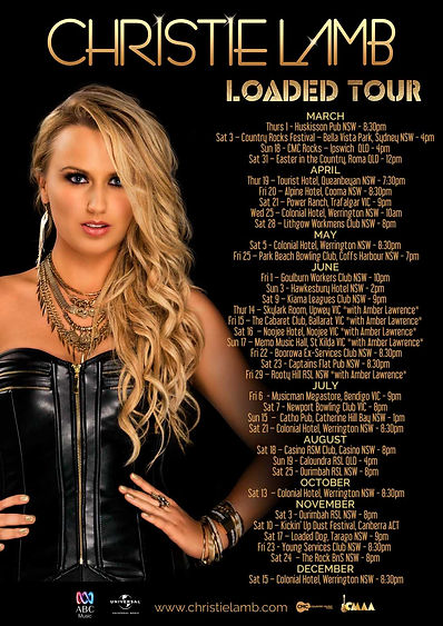 Christie Lamb, 2018 Tour Dates, Christie Lamb Loaded Tour,