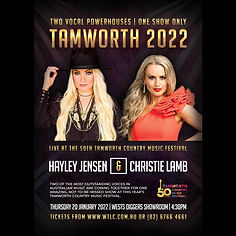 Christie Lamb and Hayley Jensen - Tamworth Country Music Festival 2022