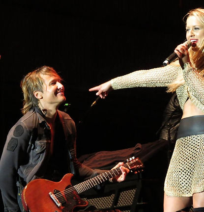 Christie Lamb, Keith Urban, Christie Lamb performs duet with Keith Urban,