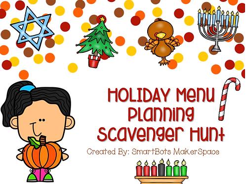 Holiday Menu Planning Scavenger Hunt