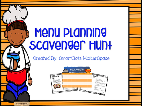 Menu Planning Scavenger Hunt