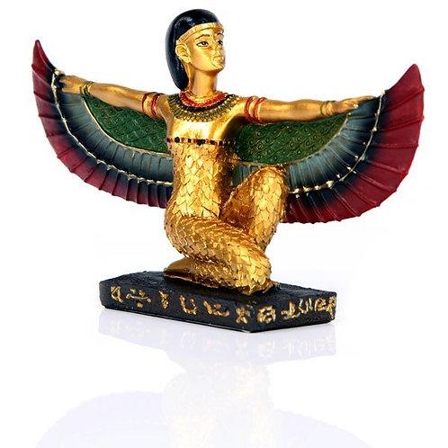 Goldene Isis mit ausgestreckten Flügeln
