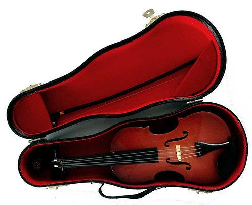 Spieluhr Geige aus Holz im Geigenkasten