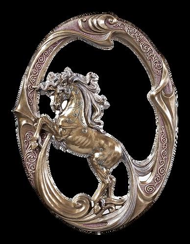 Einhornspiegel bronziert