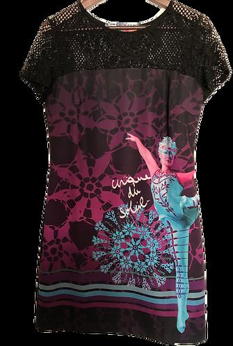 DESIGUAL Cirque du Soleil Spitzenkleid schwarz