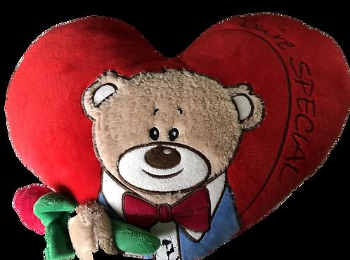Herzkissen Bär mit Karotte