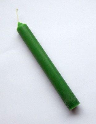 Durchgefärbte Stabkerzen grün 12 Stück