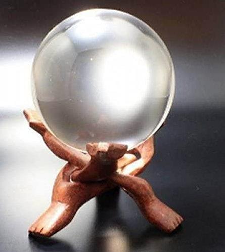 Kristallkugel 11 cm mit Ständer