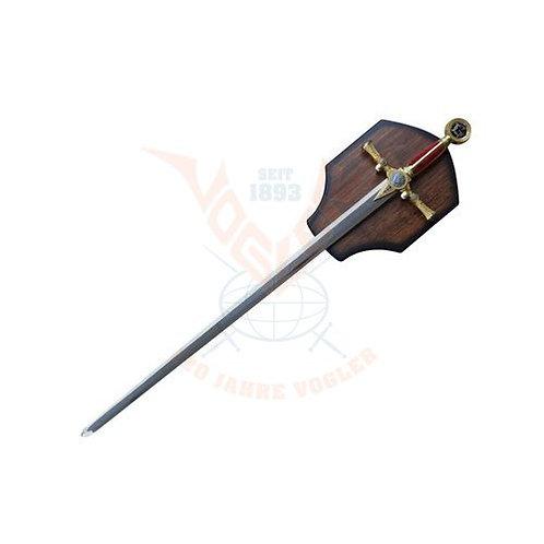 Freimaurerschwert auf Holzdisplay
