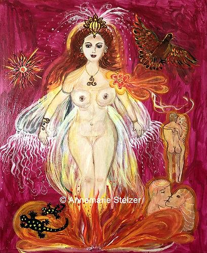 Die Göttin des Feuers