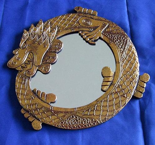 Drachenspiegel gold