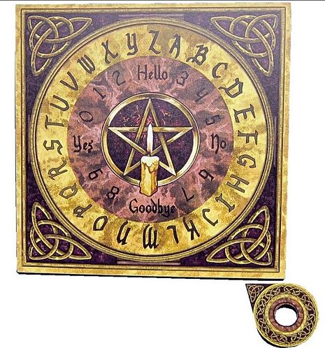Witchboard mit Pentagramm & Triquetta
