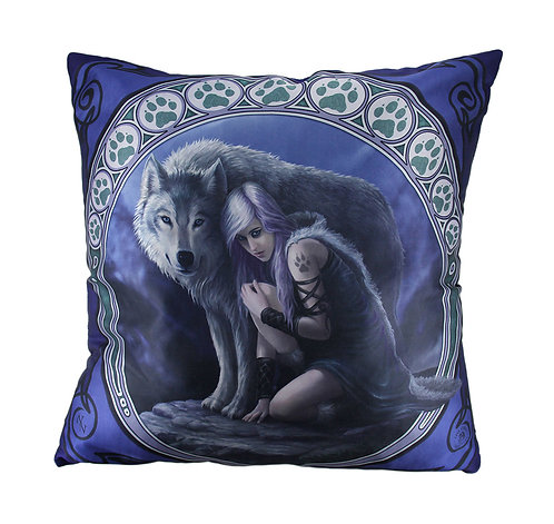 Vampire Lady and Wolf Cushion