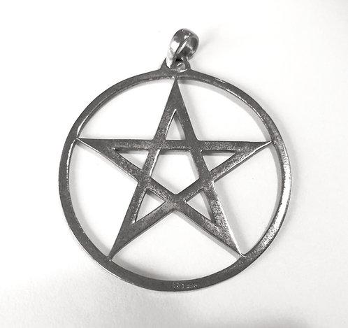 Silber-Anhänger Pentagramm groß