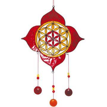Suncatcher Lotus mit Bume des Lebens