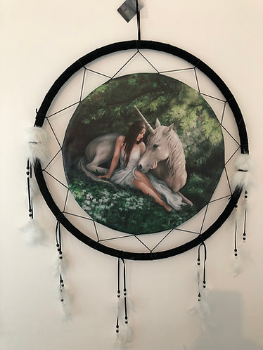 Unicorn and Maiden Dreamcatcher 60cm