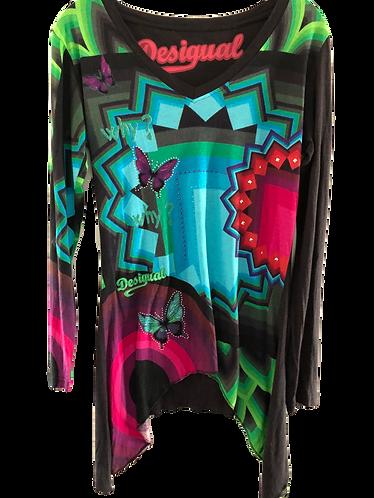 DESIGUAL Langarm-Shirt Schmetterling