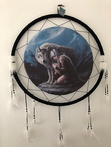 Wolf and Maiden Dreamcatcher 60cm