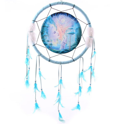 Blue Fairy Dreamcatcher 16cm