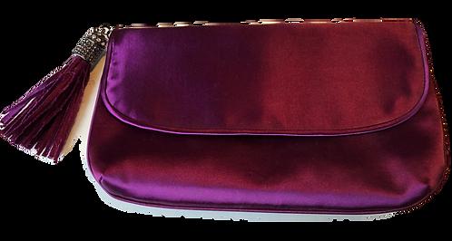 Satin-Clutch lila
