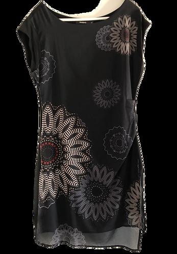 DESIGUAL Polyesterkleid schwarz