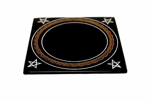 Schwarzer magischer Spiegel 10 cm
