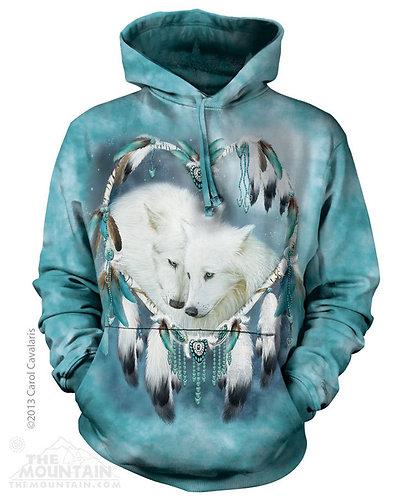 Kapuzensweater Wolf Heart Unisex