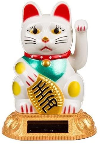 Chinesische Glücks-Winke-Katze weiß