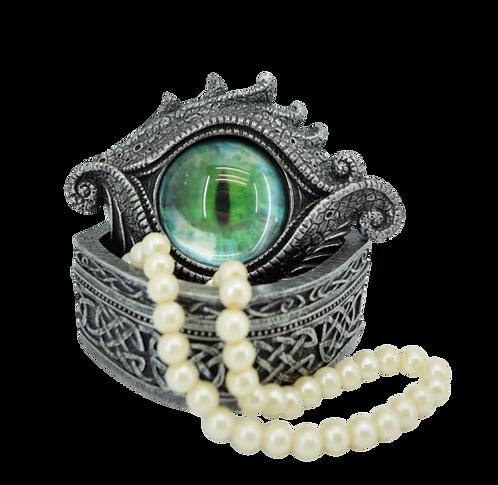 Drachenbox oval mit grünem Auge