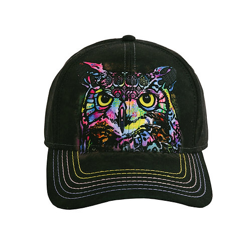Russo Owl Baseball Cap Black The Mountain