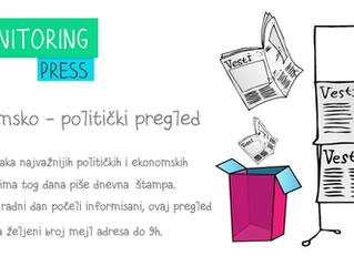 Ekonomsko politički pregled dnevne štampe za 30.01.2016 - 01.02.2016.