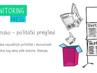 Ekonomsko politički pregled dnevne štampe za 01.10.2014.