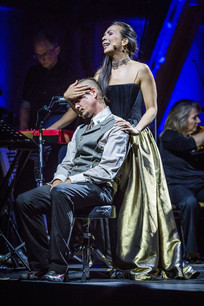 Caroline Adler mit Sascha Heymans