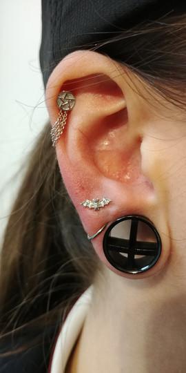 solidgoldbatbvla lobepiercings cartilage