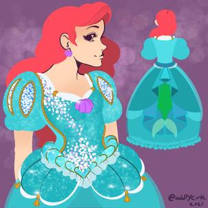 Ariel Sea foam dress rea design