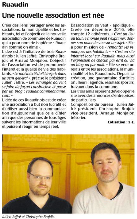 article RCOA Maine Libre