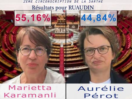 Résultats du second tour des élections législatives à Ruaudin