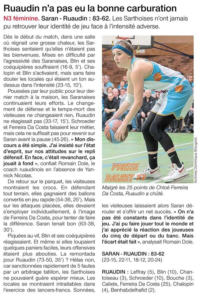 Article Presse basket72