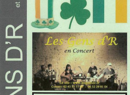 Concert gratuitde la St Patrick par Les gens d'R.