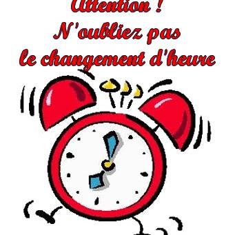 Exprimez-vous sur le changement d'heure