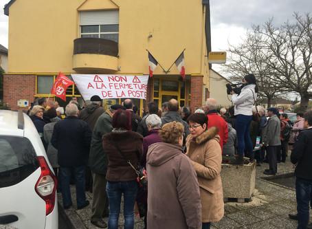 LA POSTE DE RUAUDIN : INFORMATIONS suite au rassemblement contre la fermeture.