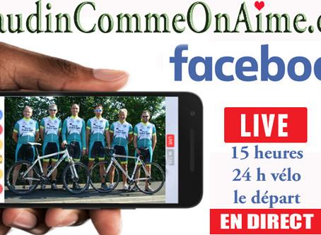24 heures vélo à partir de 15 heures en direct sur Facebook