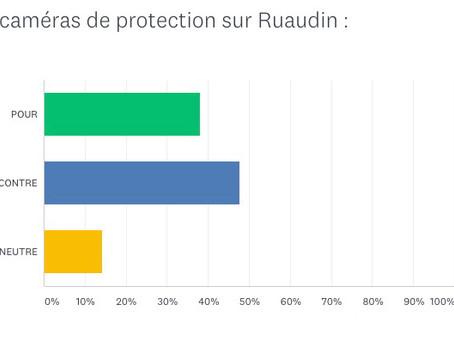 Résultat de notre sondage : pour ou contre l'installation de caméras sur Ruaudin
