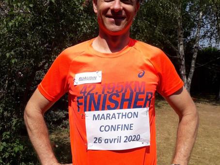 Un marathon à Ruaudin pendant le confinement
