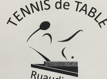 Ping Pong Ruaudin : nouveau maillot et logo