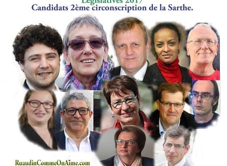 Les candidats de la 2ème circonscription de la Sarthe