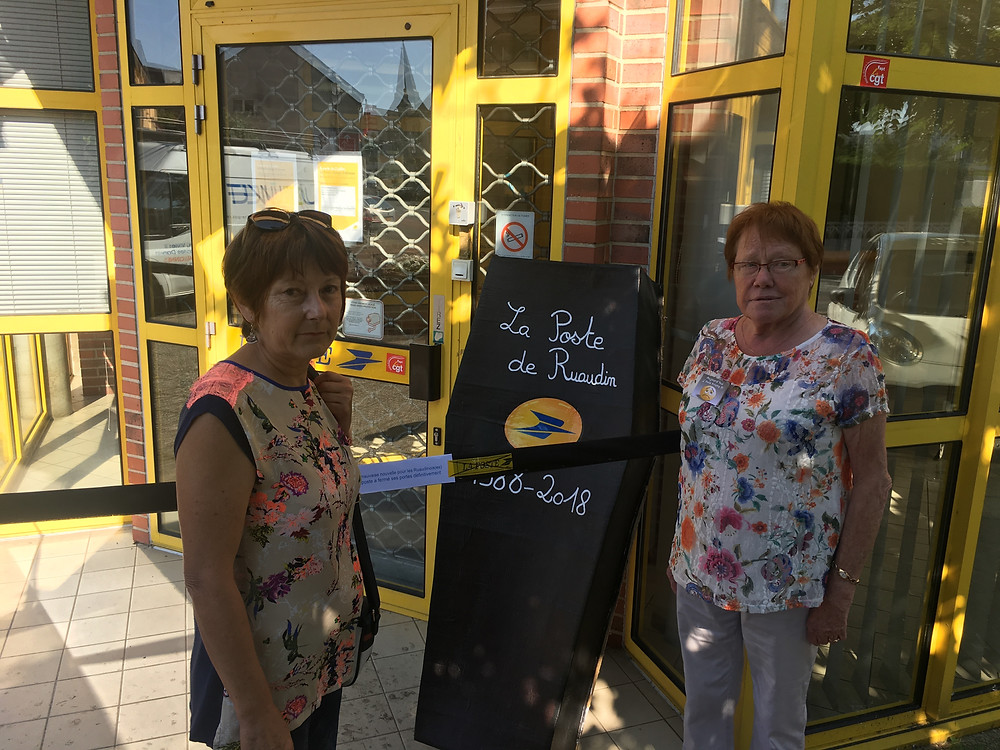 Mme Batteux et Mme Langlois 2 postières de Ruaudin